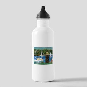 Sailboats & Affenpinscher Stainless Water Bott