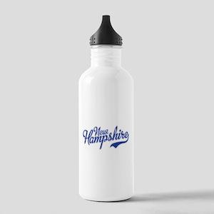 New Hampshire Script Font Water Bottle