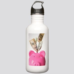 Piggy bank and US doll Stainless Water Bottle 1.0L
