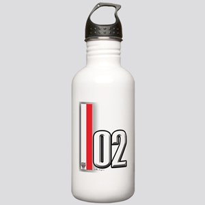02redwhite Stainless Water Bottle 1.0L