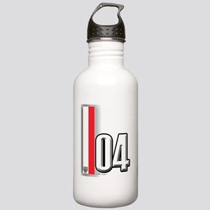 04redwhite Stainless Water Bottle 1.0L
