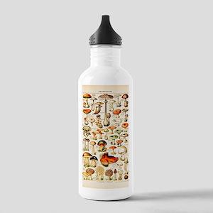 Vintage Mushroom Print Stainless Water Bottle 1.0L