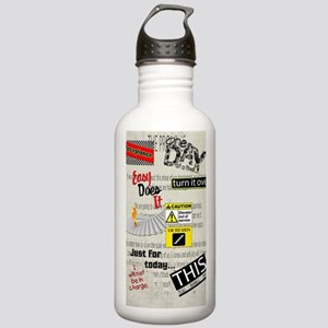12 Step Slogans Stainless Water Bottle 1.0L