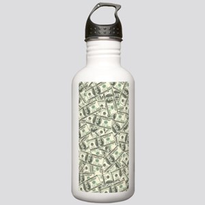 100 Dollar Bill Money  Stainless Water Bottle 1.0L