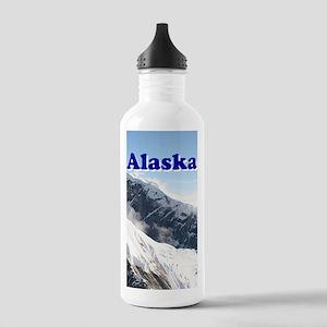 Alaska: Alaska Range, USA Stainless Water Bottle 1