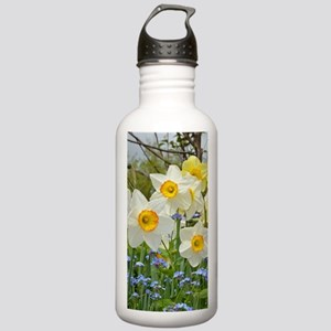 White and yellow daffo Stainless Water Bottle 1.0L