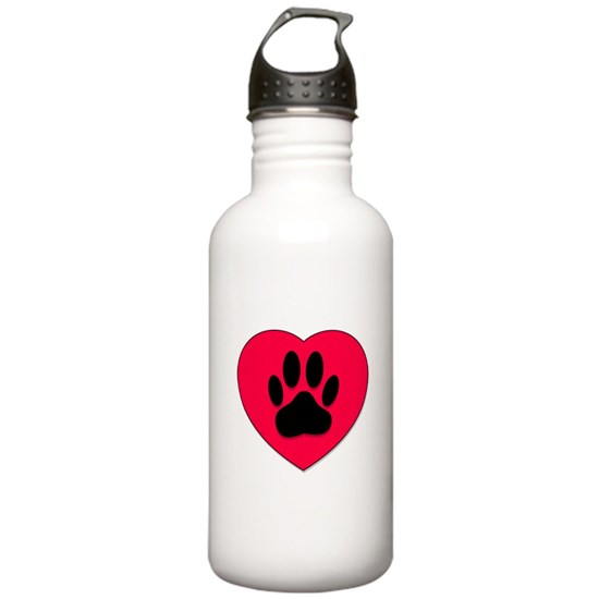 Red Heart With Dog Paw Print
