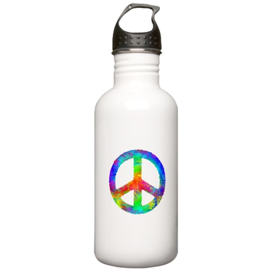 Distressed Rainbow Peace Sign