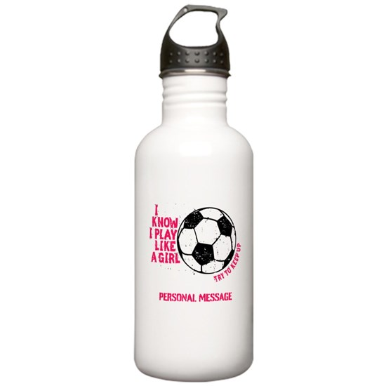 Personalized Play Like a Girl Soccer