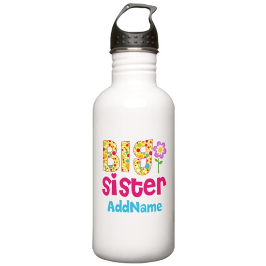 Big Sister Pink Teal Floral Personalized