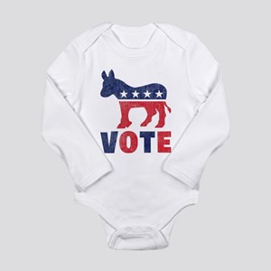 Democrat Vote 2 Long Sleeve Infant Bodysuit