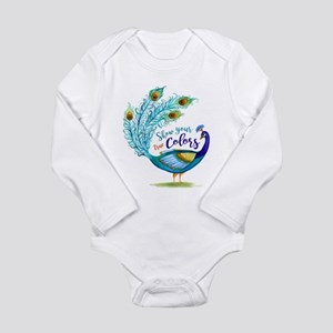 Show your true Colors Peacock Body Suit