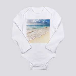 Beautiful Beach Long Sleeve Infant Bodysuit