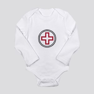 Circled Red Cross Body Suit