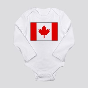 Flag of Canada 1 Long Sleeve Infant Bodysuit