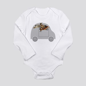 Riding in Cars with Dogs Long Sleeve Infant Bodysu