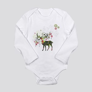 Abstract Decorated Christmas Elk Body Suit