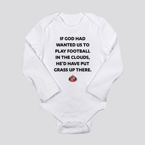 If God Wanted Us to Pl Long Sleeve Infant Bodysuit