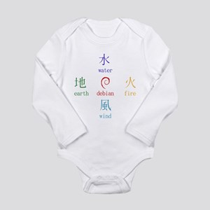 Elements of Debian Long Sleeve Infant Bodysuit