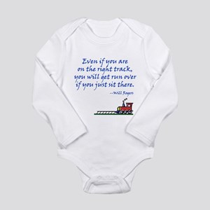 Don't Sit There Long Sleeve Infant Bodysuit