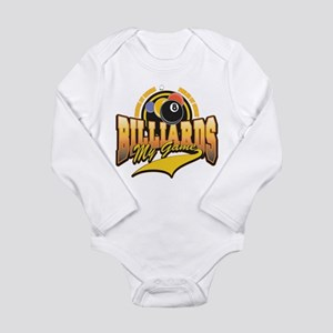 Billiards My Game Long Sleeve Infant Bodysuit