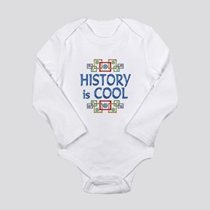 History is Cool Long Sleeve Infant Bodysuit
