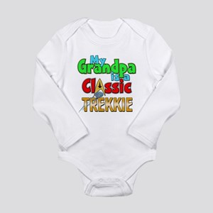 Classic Trekkie Grandp Long Sleeve Infant Bodysuit