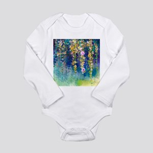 Floral Painting Long Sleeve Infant Bodysuit