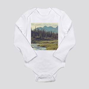Mountain Meadow Long Sleeve Infant Bodysuit