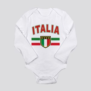 italian pride Long Sleeve Infant Bodysuit