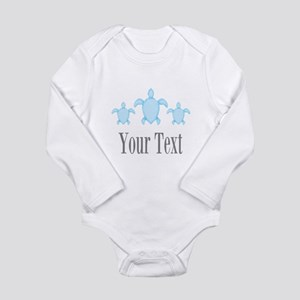 Sea Turtle Ocean Blue Name Body Suit