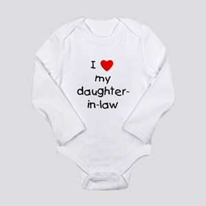 I love my daughter-in-law Long Sleeve Infant Bodys