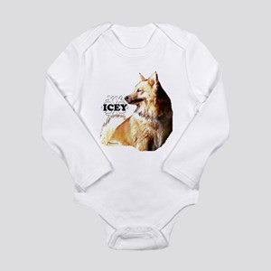 icelandic sheepdog Long Sleeve Infant Bodysuit