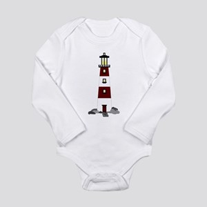 Lighthouse Long Sleeve Infant Bodysuit