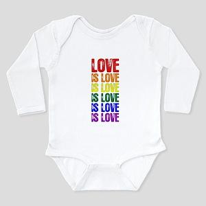 Love is Love is Love Long Sleeve Infant Bodysuit