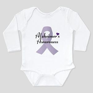 Alzheimers Awareness Ribbon Body Suit