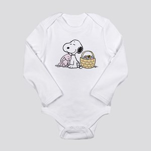 Beagle and Bunny Long Sleeve Infant Bodysuit
