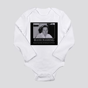 Infection Control Humor 02 Long Sleeve Infant Body