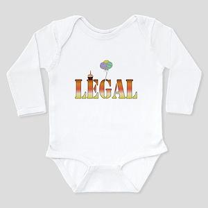 Finally Legal Birthday Long Sleeve Infant Bodysuit