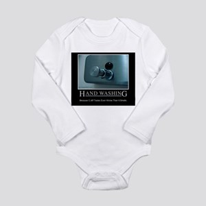 Infection Control Humor 01 Long Sleeve Infant Body