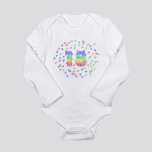 18th Birthday Pastel Stars Long Sleeve Infant Body