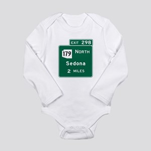 Sedona, AZ Road Sign, USA Long Sleeve Infant Bodys