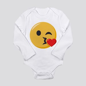 Kissing Emoji Long Sleeve Infant Bodysuit