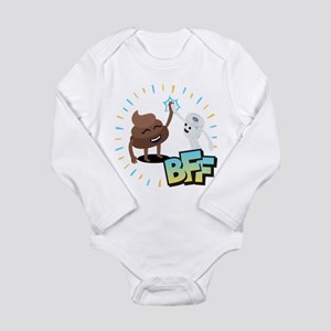 Emoji Poop Toilet Pape Long Sleeve Infant Bodysuit