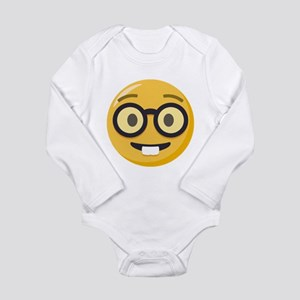 Nerd-face Emoji Long Sleeve Infant Bodysuit