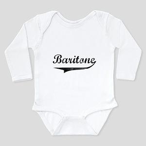baritone-blk Long Sleeve Infant Bodysuit