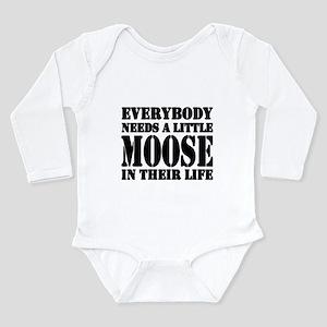 Moose Long Sleeve Infant Bodysuit