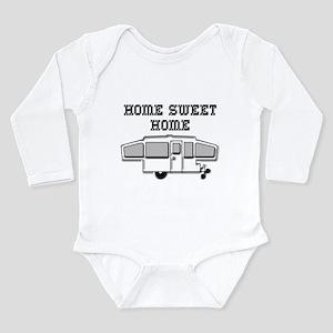 Home Sweet Home Pop Up Long Sleeve Infant Bodysuit