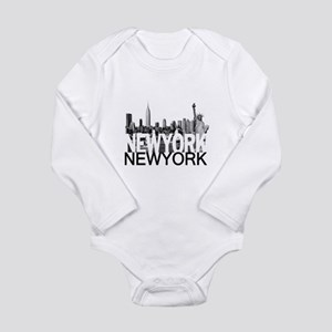 New York Skyline Long Sleeve Infant Bodysuit