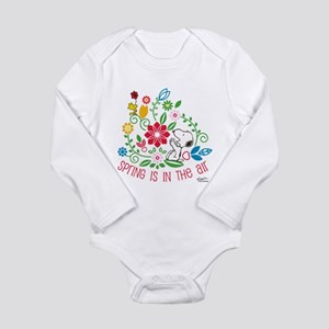Snoopy Spring Long Sleeve Infant Bodysuit